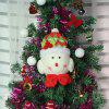 Snowman Pattern Christmas Tree Decorations Doll - RED AND WHITE
