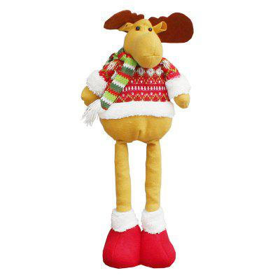 Elk Patterned Retractable Christmas Doll