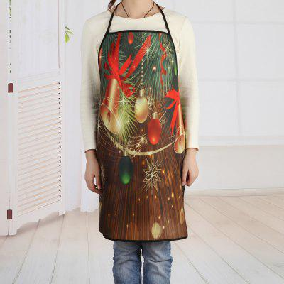 Christmas Bells Baubles Print Cooking Apron