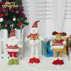 3Pcs Santa Claus Elk Snowman Pattern Retractable Christmas Dolls - COLORFUL
