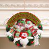 Festival Home Ornament Christmas Wreath Door Hanger Decoration - GREEN