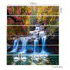 Forest Cascade Swans Printed Stair Stickers - COLORFUL
