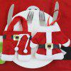 2PCS Christmas Clothes and Trousers Shape Knife And Fork Bags - RED