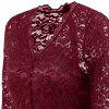 Lace A Line Party Vintage Dress - WINE RED