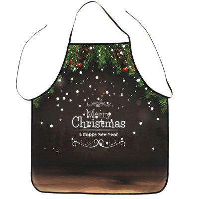Merry Christmas Letter Print Polyester Waterproof Apron