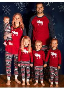 ELK Deer Family Christmas Pajama Set