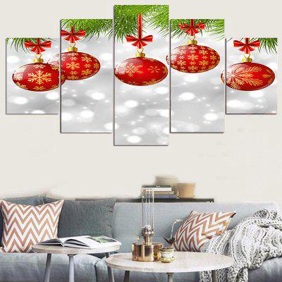 Hanging Snowflakes Balls Pattern Wall Stickers