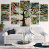 Life Tree Printed Wall Art Stickers - COLORFUL