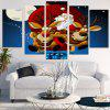 Flying Santa Claus Sled Pattern Wall Stickers - BLUE AND RED