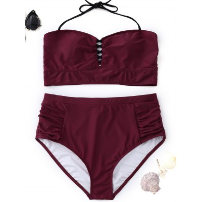 Halter High Waisted Plus Size Bikini