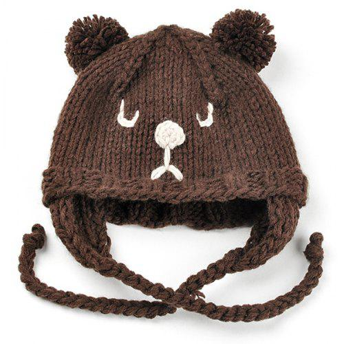f20148eb101 Cute Cartoon Bear Embellished Crochet Knitted Beanie -  7.41 Free  Shipping