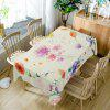 Flower Print Fabric Dining Table Cloth - COLORMIX