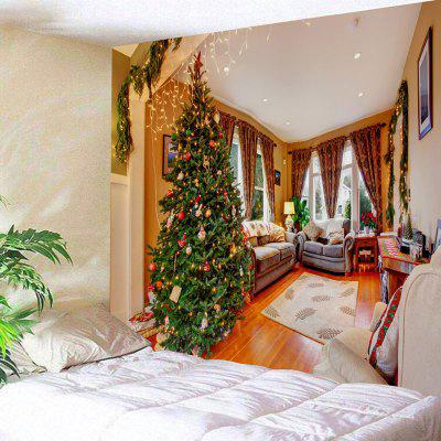 Wall Decor Living Room Christmas Tree Print Tapestry