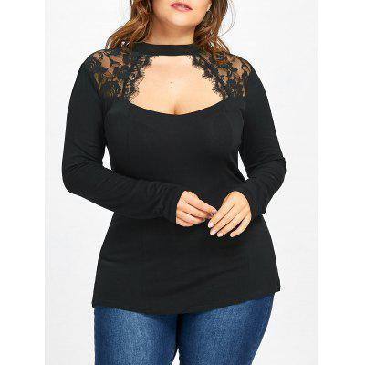 Top Plus Size Con Inserti In Pizzo