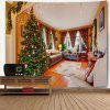 Wall Decor Living Room Christmas Tree Print Tapestry - COLORMIX
