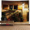 The Windowsill at Night Print Wall Art Tapestry - COLORMIX