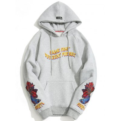 ZAFUL Fashion Embroidered Oversize Hoodie for Men