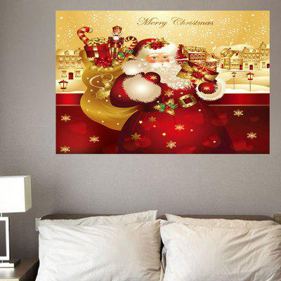 Santa Claus With Gifts Pattern Decorative Eco-friendly Wall Sticker