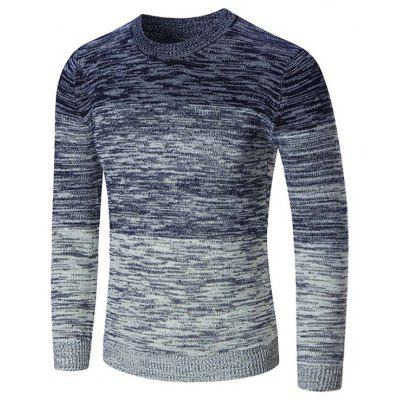 Crew Neck Space Dyed Ombre Sweater