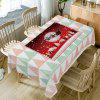 Christmas Moon Village Print Waterproof Fabric Table Cloth - COLORMIX