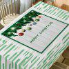Merry Christmas Baubles Print Waterproof Fabric Table Cloth - GREEN