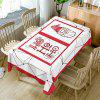 Christmas Santa Claus Print Waterproof Fabric Table Cloth - RED