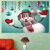 Smiling Christmas Snowman Pattern Wall Sticker - COLORFUL