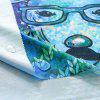 Christmas Deer Print Waterproof Fabric Table Cloth - BLUE