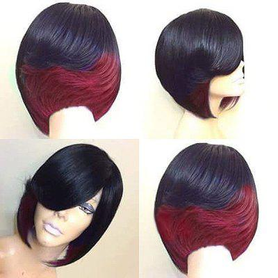Short Side Bang Feathered Straight Bob Synthetic Wig