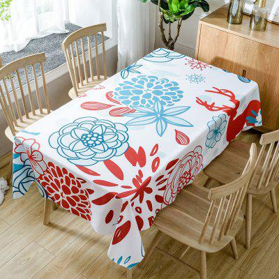 Floral Printed Home Decoration Waterproof Fabric Table Cloth