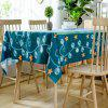 Christmas Theme Star Printed Waterproof Fabric Table Cloth - COLORMIX