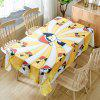 Christmas Cats Print Waterproof Fabric Tablecloth - YELLOW