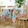 Christmas Birds Pine Cone Print Waterproof Fabric Tablecloth - COLORMIX