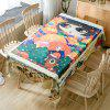 Christmas Cartoon Forest Print Waterproof Fabric Tablecloth - COLORMIX