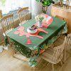 Christmas Pine Ornaments Print Waterproof Fabric Tablecloth - COLORMIX