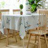 Christmas Snowflakes Print Waterproof Fabric Tablecloth - COLORMIX