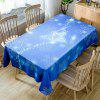 Christmas Star Snowflakes Print Waterproof Fabric Tablecloth - BLUE