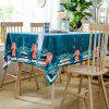 Christmas Deer Tree Print Waterproof Fabric Tablecloth - COLORMIX