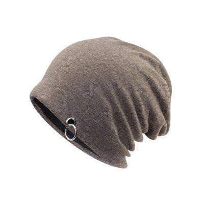 Outdoor Metal Ring Embellished Slouchy Beanie