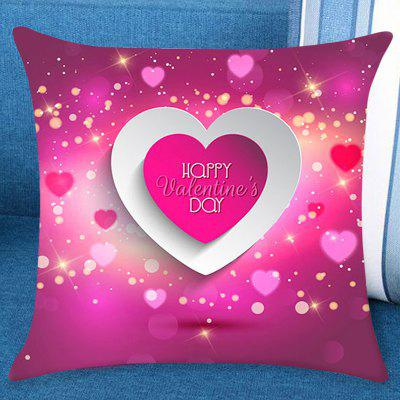 Valentine's Day Starry Heart Patterned Pillow Case