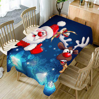 Santa Claus And Christmas Elk Pattern Table Cloth