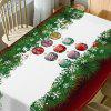 Christmas Baubles Pine Print Waterproof Fabric Table Cloth - COLORMIX