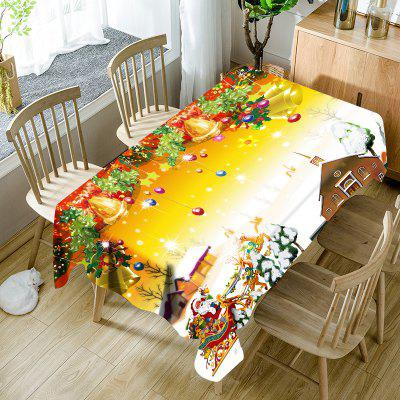 Merry Christmas Printed Waterproof Fabric Table Cloth