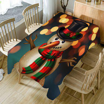 Christmas Long Nose Snowman Pattern Table Cloth
