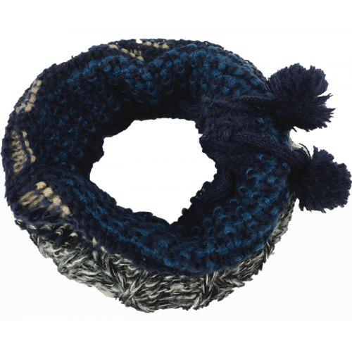 Outdoor Colormix Pattern Chunky Knitted Infinity Scarf 3 78 Free