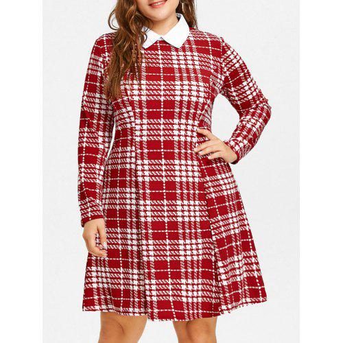 Plus Size Plaid Dress