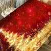 Abstract Christmas Tree Print Waterproof Fabric Table Cloth - RED + GOLDEN
