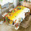 Merry Christmas Printed Waterproof Fabric Table Cloth - COLORMIX