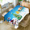 Christmas Theme Printed Waterproof Table Cloth - SKY BLUE
