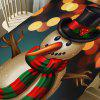 Christmas Long Nose Snowman Pattern Table Cloth - COLORFUL